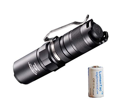Nitecore MT1C Upgraded 345 Lumens Cree XP-G2 R5 LED Flashlight with LumenTac CR123A Battery
