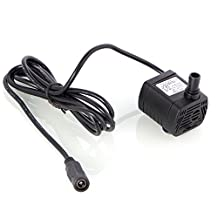 Trnaroy 3W DC 5.5-12V Pump Mini Submersible Water Pumping for Pond, Aquarium, Fish Tank Fountain Garden House Water Pump Hydroponics with 1.45M Power Cord