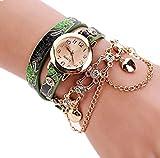 Windoson Bracelet Watch Fashion Snake Skin Pattern Ladies Circle Watch Jewelry Long Belt Quartz Watch