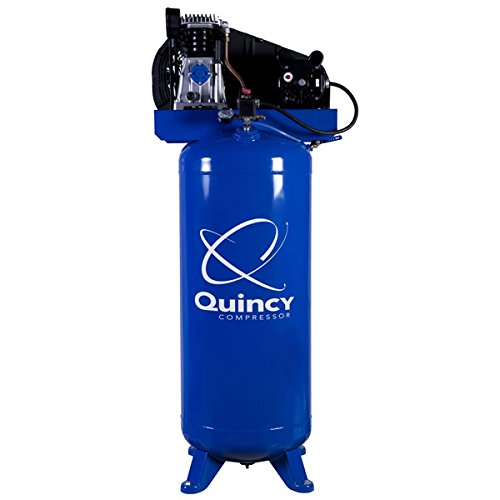 Quincy Single-Stage Air Compressor - 3.5 HP, 220 Volt, 60-Gallon Vertical Tank, Model Number Q13160VQ