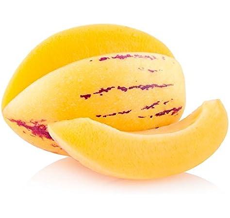 Melón pera, semillas de pepino - Solanum muricatum: Amazon.es: Jardín