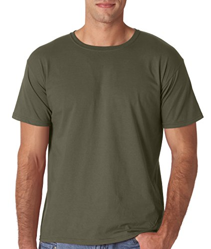 Gildan Men's Softstyle Ringspun T-shirt - Large - Military Green Adult Army Green T-shirt