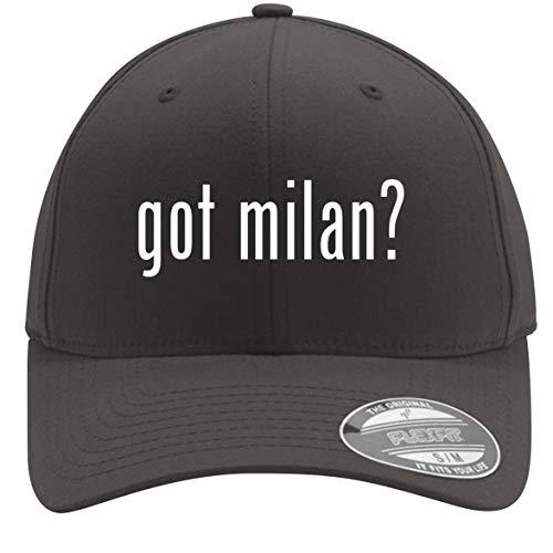 got Milan? - Adult Men's Flexfit Baseball Hat Cap, Dark Grey, Small/Medium ()