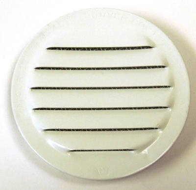 Maurice Franklin Louver-2'' Round White Aluminum Louver with Insect Screen (Priced Per Bag of 6). Item #2'' RLW-100