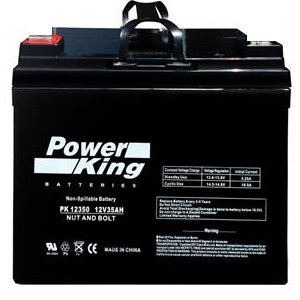 Battery 12 Volt 35AH Marine Deep Cycle HI Performance Battery ideal for Boats and 18-35lb Minn Kota, Minnkota, Cobra, Sevylor and other Trolling Motor (12V 35AH, GROUP U1) Beiter DC Power