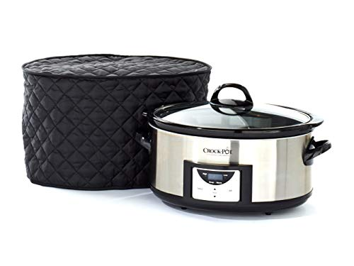 Covermates – Slow Cooker Cover – 17W x 12D x 17H – Diamond Collection – 2 YR Warranty – Year Around Protection – Black