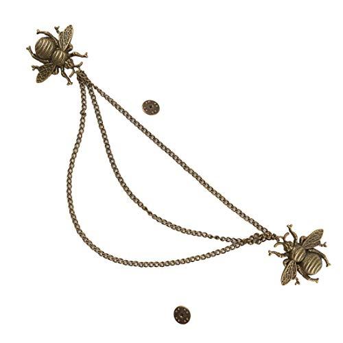 KOGOGO Collar Chain Shirt Clip Lapel Pin Costume Accessory ()