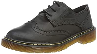 Smilun Lady¡¯s Full Brogue Derby Western Low Heel Shoes Classic Flats Round Toe Black Size: 6 B(M) US