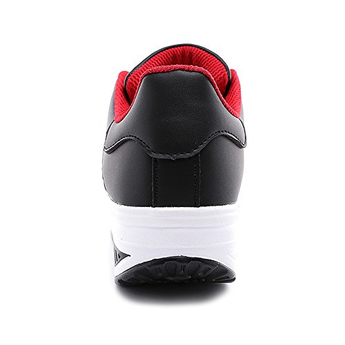 Walking Lose uruoi Platform Slip Weight on Women's Black Shoes Breathable Shoes Shake Wedge Comfortable wpwCxAqH