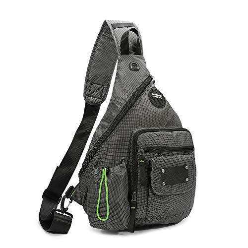 Cross Shoulder Backpack - DDDH 13.3-Inch Sling Bag Riding Hiking Bag Single Shoulder Backpack For Men Women(Grey)