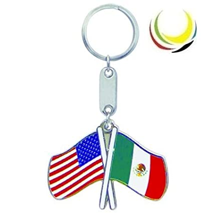 Amazon.com : Keychain USA-MEXICO FLAGS : Key Tags And Chains ...