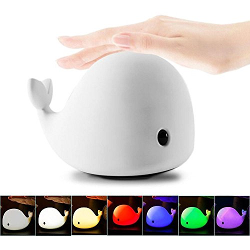 Mystery-4-Modes-Children-Night-Light-USB-Rechargeable-Dolphin-Night-Light-With-Warm-White-Strong-White-5-Single-Colors-and-5-Color-Breathing-Modes-Sensitive-Tap-Control-for-Baby-Adults-Bedroom