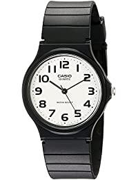 Men's MQ24-7B2 Analog Watch with Black Resin Band