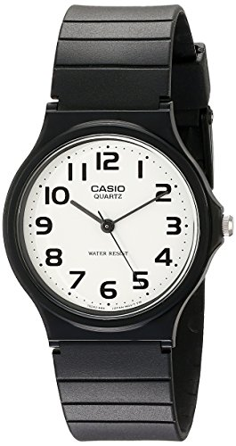 Casio Men's MQ24-7B2 Analog Watch with Black Resin Band Black Resin Case