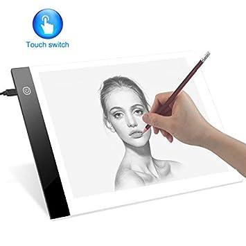 HENZIN LED A4 Bombilla, Bombilla Tablero con Cable USB Touch Regulable Luz Portátil Pad Bombilla Cajas para Pintar skizzierung animación Dibujo: Amazon.es: ...