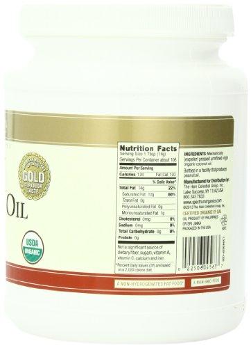 Spectrum Organic Coconut Oil for Cooking, Virgin, Unrefined, 54 fl. oz. by Spectrum (Image #5)