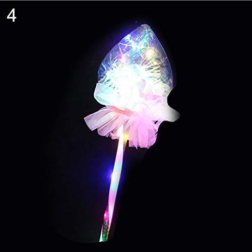 Shuohu Halloween Light up Luminous Mask,Heart Star Shape,Glowing Stick LED Luminous Magic Wand Toy Party Concert Supplies Heart Bobo Ball]()