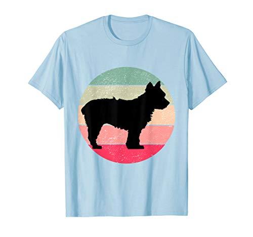 Yorkshire Terrier Silhouette Shirt Retro Dog Lover T-Shirt