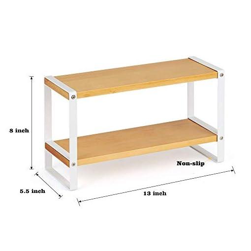 Kitchen NEX Kitchen Cabinet And Counter Shelf Organizer, Black + NEX 2 Tier Standing Rack for Spices, Wood Board Metal Structure… spice racks