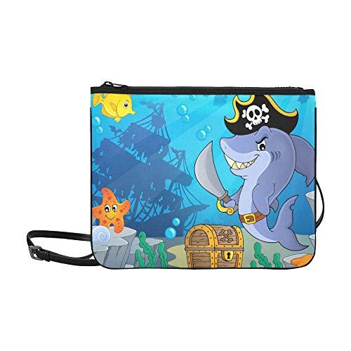 Cartoon Pirate Shark With...
