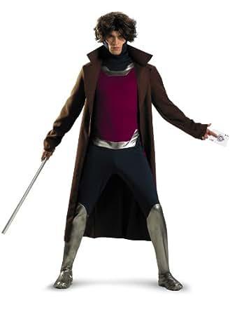 Disguise Marvel Universe Gambit Mens Adult Costume,Brown/Black/Purple,X-Large/42-46
