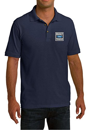 Mens Built Ford Tough Navy Pique Polo Shirt 2XL