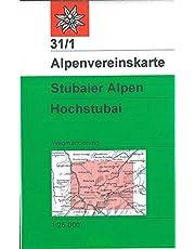 Stubaier Alpen - Hochstubai: Wege und Skitouren, 1:25.000: Topographische Karte: 31/1