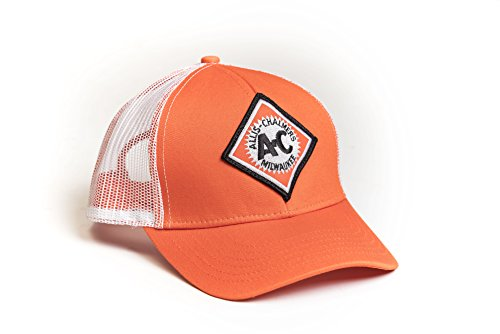 J&D Productions, inc. Allis Chalmers Tractor Hat, Vintage Logo, Orange with White mesh Back (Alis Tractor)