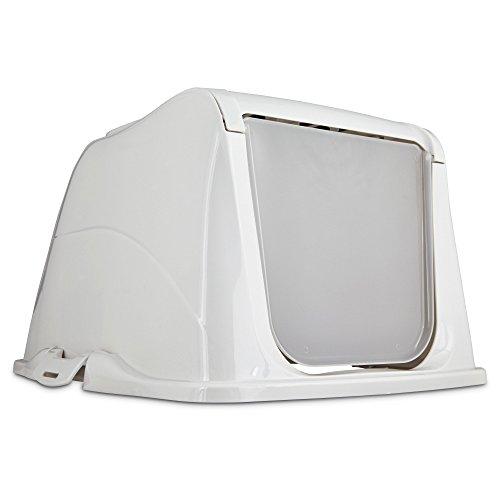 So Phresh Flip Top Cat Litter Box Hood in White, Large, Teal