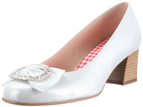 Diavolezza CELINE 6050 - Zapatos de vestir de ante para mujer Plateado