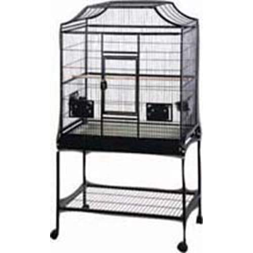 Image of A&E CAGE COMPANY MA3221FL Platinum Elegant Style Flight Bird Cage with Stand Gray, 32 by 21 by 61'