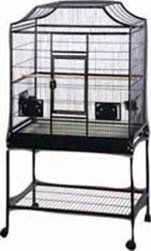 A&E Cage Company MA3221FL Platinum Elegant Style Flight Bird Cage with Stand Gray, 32 by 21 by 61″