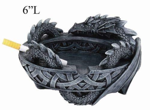2019高い素材  古代ドラゴンの置物 ケルトの灰皿像 ホームデコレーション 6インチベース B07KTJBFD9 B07KTJBFD9, レースのお店 SORA:fd61bcbe --- arcego.dominiotemporario.com