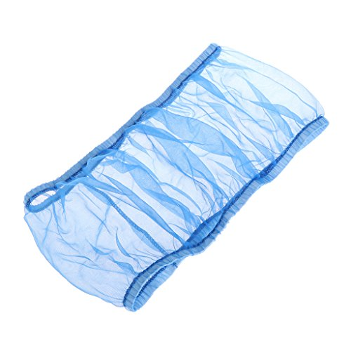 Richi Blue Nylon Mesh Bird Seed Catcher Guard Net Cover Shell Skirt Traps Cage Basket S M L (L)
