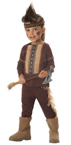 Toddler Little Warrior Costume - Indian - Toddler Medium 3-4 (Warrior Indian Costume)