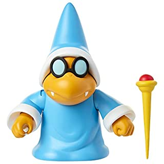 """SUPER MARIO Nintendo Collectible Magikoopa 4"""" Poseable Articulated Action Figure with Wand Accessory, Perfect for Kids & Collectors Alike! for Ages 3+"""