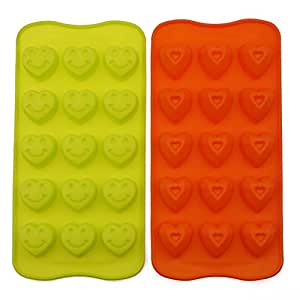 Wenwins silicone Ice cube mold trays candy mold 2pcs