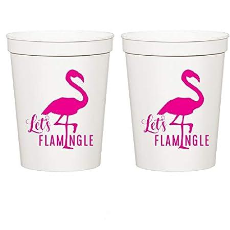 Let s flamingle, blanco estadio vasos de plástico - Fiesta ...