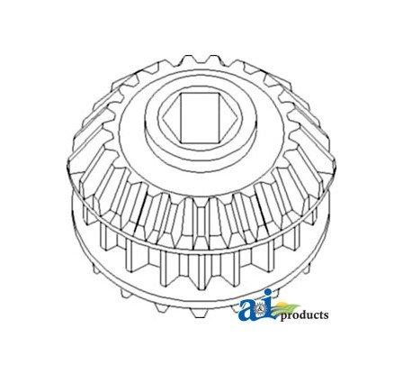 AH146441 Gear Assy Stalk Roller Drive Fits John Deere Combine (Roller Drive Gear)