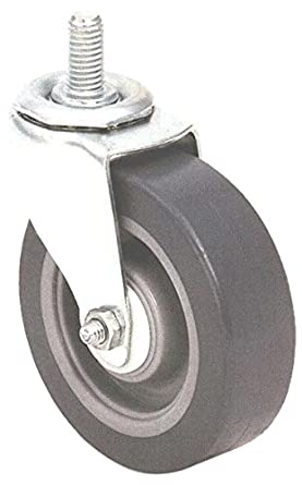 E.R. Wagner Stem Caster, Swivel, TPR Rubber on Polyolefin Wheel