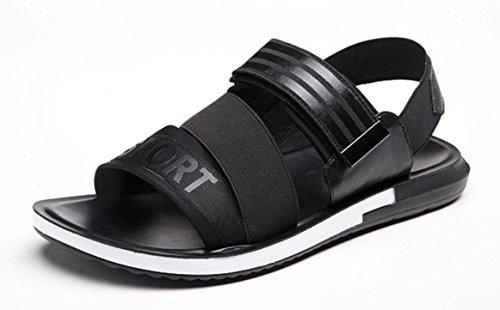 De La De CYGG De Nuevo Black Correa Hombres Del Playa Los Cuero De Sandalias De Mágicos Zapatillas Verano Elástica Cinturones XdzwZqanx