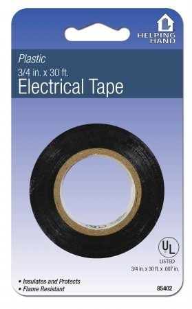 Helping Hand 85402 3/4'' X 30' Black Electrical Tape