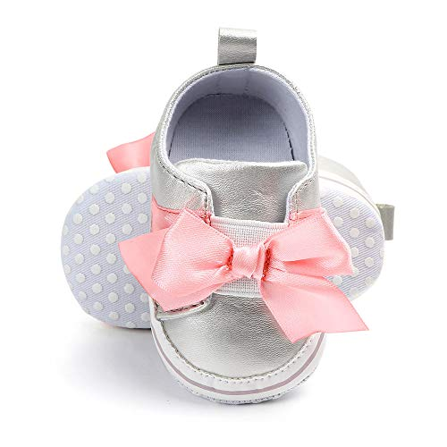 Single Shoes Children Jifutan Baby Bow-Knot Soft Bottom Non-Slip Small Princess Shoes ()
