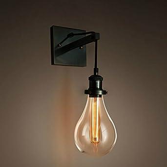 purelume retro industrial tear bulb wall light wall lamp. Black Bedroom Furniture Sets. Home Design Ideas