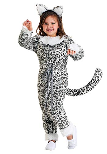 Girl's Snow Leopard Costume Medium]()