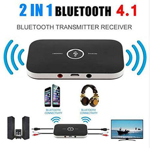 2in1 Bluetooth 4.1 Transmitter & Receiver Wireless A2DP Audio Adapter Aux 3.5mm Audio Player for TV/Home Stereo/Smartphone