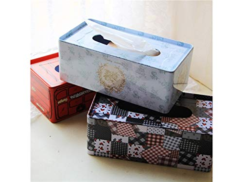 Pullic Tissue Box Lovely Printed Rectangle Tissue Case Paper Pumping Box for Home and Office(Blue) by Pullic (Image #1)