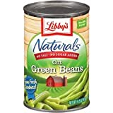 Libby's Naturals Cut Green Beans (No Added Salt or Sugar) 14.5oz Cans (Pack of 8)