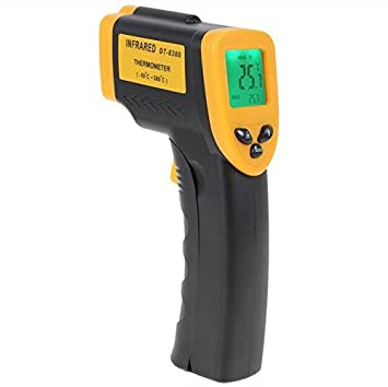 FANNEGO Non-Contact Digital Laser IR Infrared Thermometer Gun-58 F to 716 F -50 C to 380 C LCD Display With Backlight Batteries Not Included
