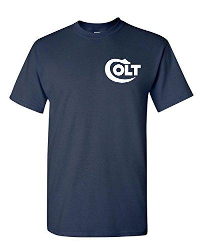 COLT Pistol Gun T-Shirt Tee 2nd Amendment Gun Rights Hunt (S, Navy ()
